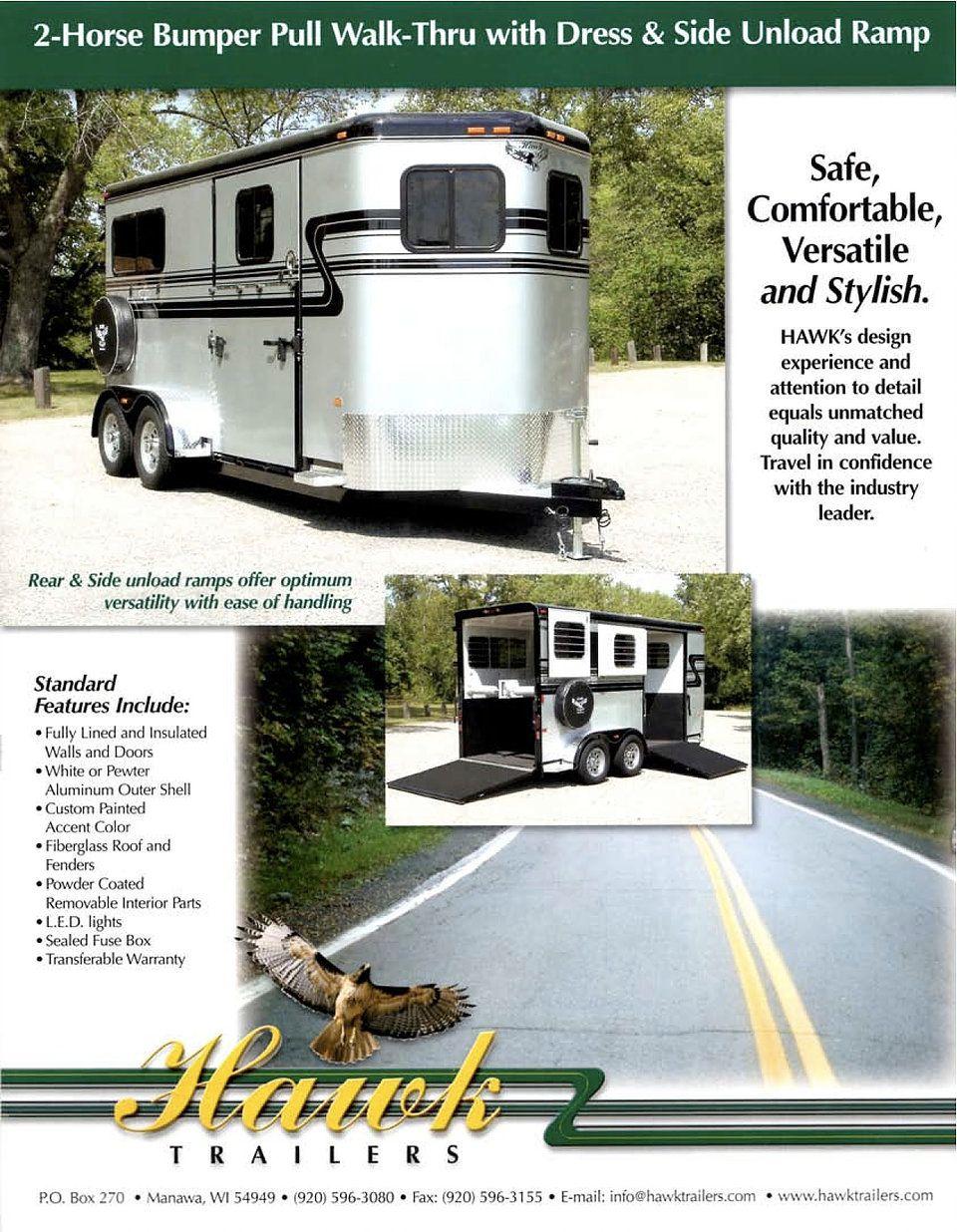 2 Horse Xl Bumper Pull Hawk Trailer 9500 Brochure Farm Fuse Box