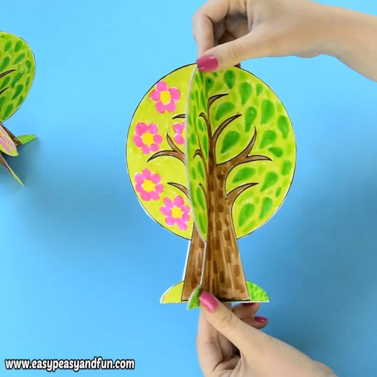 Four Seasons Tree Craft With Template - We have a wonderful four seasons tree craft template to share with you, this one