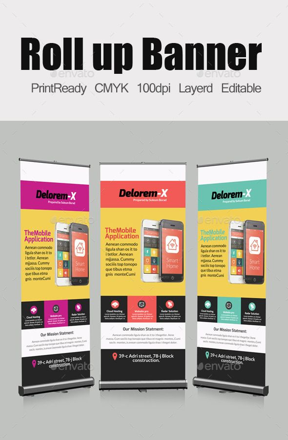 Mobile App Business Roll Up Banners Template by designhub719 Smart