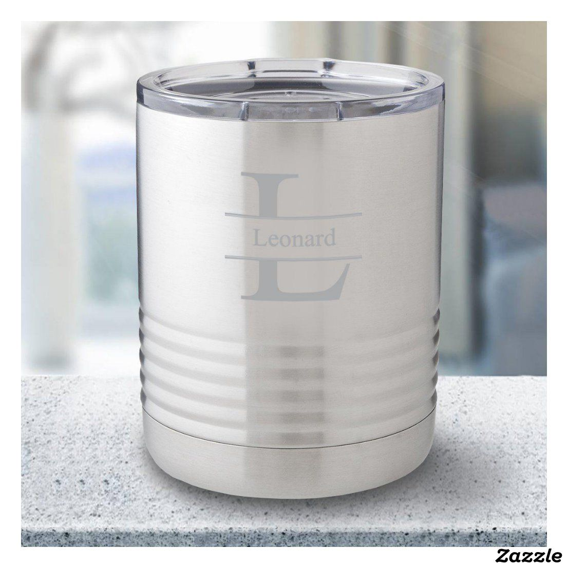Stamped Monogram Insulated Stainless Steel Tumbler Zazzle Com