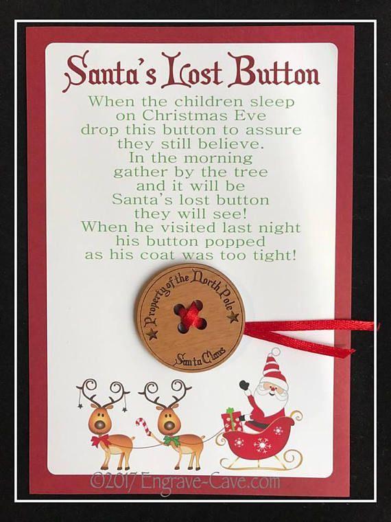 Santa S Lost Button Santa Christmas Eve Elf Fun Pinterest