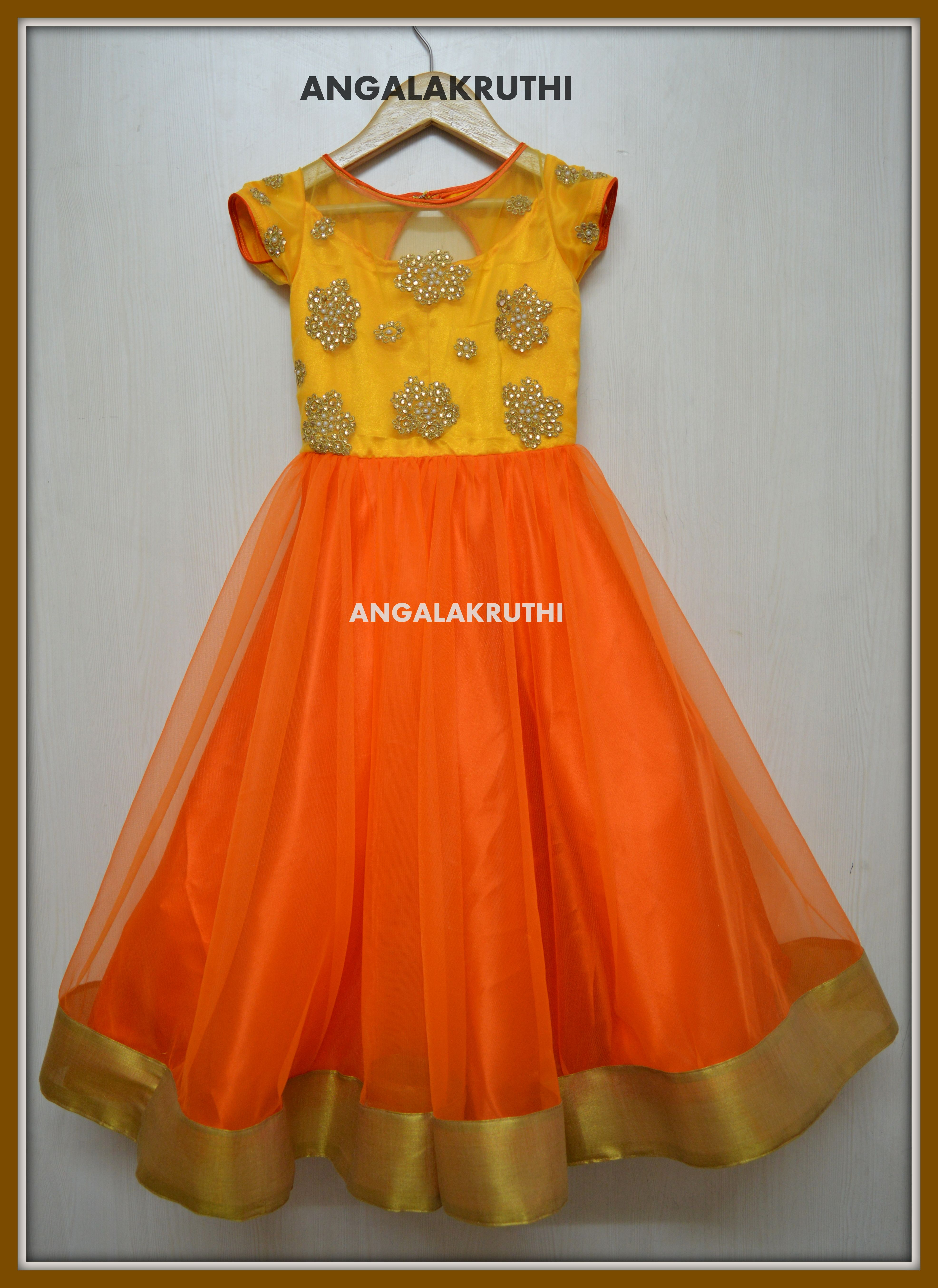 3f4c01139dd1 Angalakruthi Ladies and kids boutique in Bangalore Kids gown designs ...