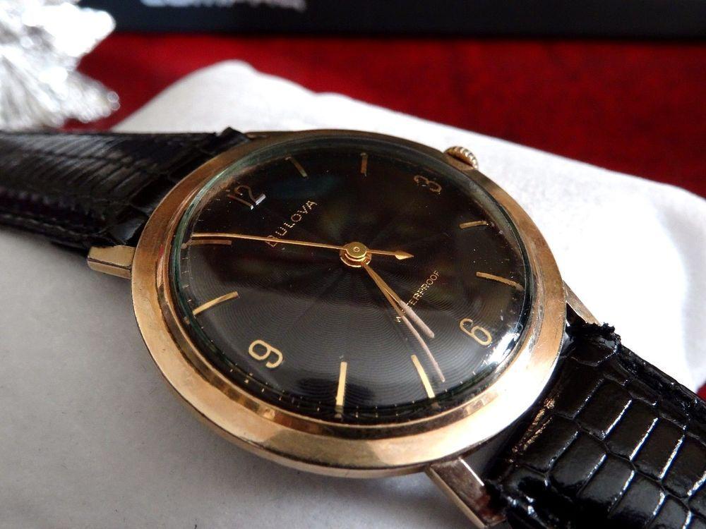 Vintage 1959 Bulova Gold Filled 10K Manual Winding 17J Sunburst Dial Men's Watch #Bulova #Dress