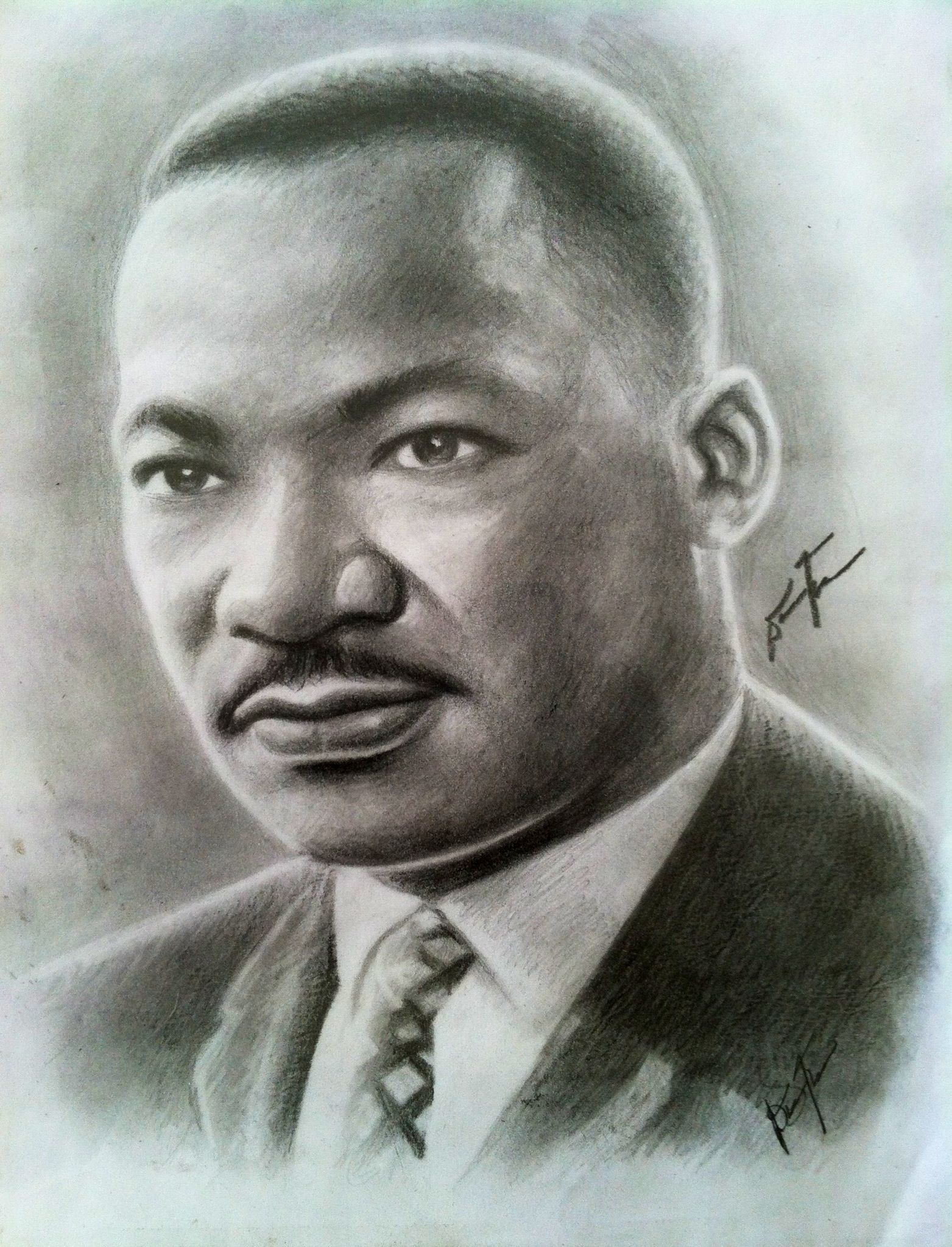 Dr. Martin Luther King Jr. | Pencil Drawings | Pinterest | Retrato ...