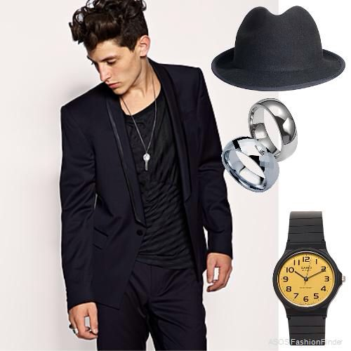 Trendy all black