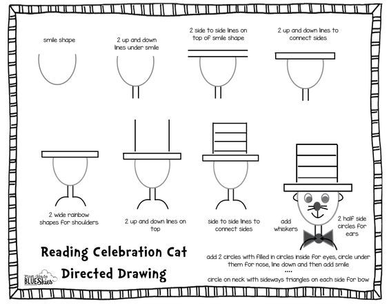 First Grade Blue Skies: Directed Drawing Tutorial for Reading Celebration Week {FREEBIE}