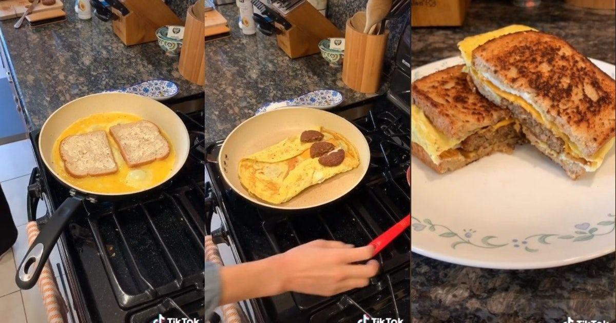 The 6 Best Tiktok Egg Sandwich Recipes For An Easy 1 Pan Breakfast Egg Sandwich Recipe Egg Sandwiches Sandwich Recipes