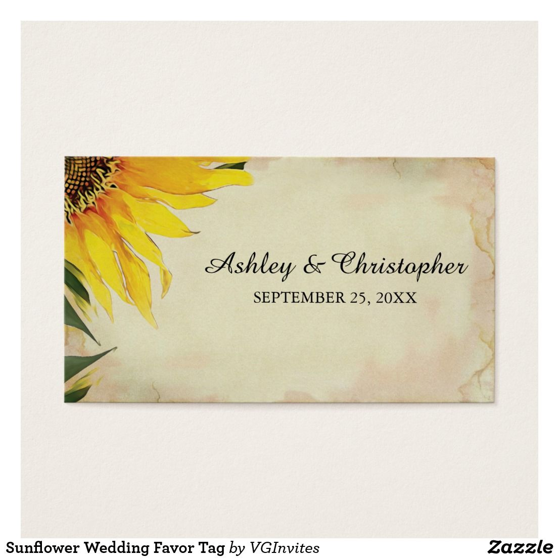 Sunflower Wedding Favor Tag | Favor tags, Tags and Sunflower wedding ...