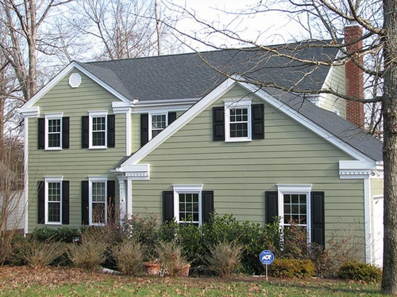 Hardie Board Siding Design And Type House Paint Exterior Green