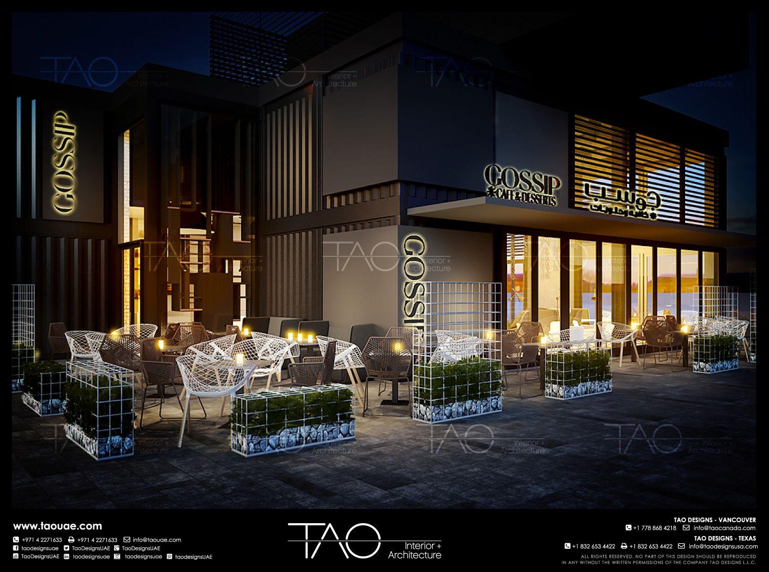 Exceptional Gossip Entrance Exterior In Al Wasl, Dubai UAE | By TAO Designs LLC |