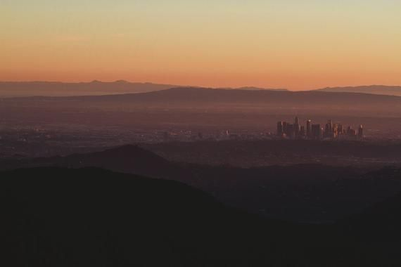 Los Angeles Sunset Photography La Skyline Cityscape Horizontal Wall Art Artwork For Home Sunset Photography California Beaches Photography Los Angeles Sunset