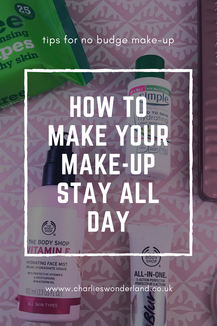 How to make your make-up stay all day.