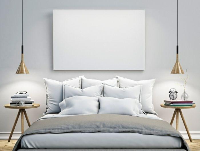 Lampe de chevet suspendue 80 id es pour un clairage tendance dans la chambre coucher - Lampe pour chambre a coucher ...
