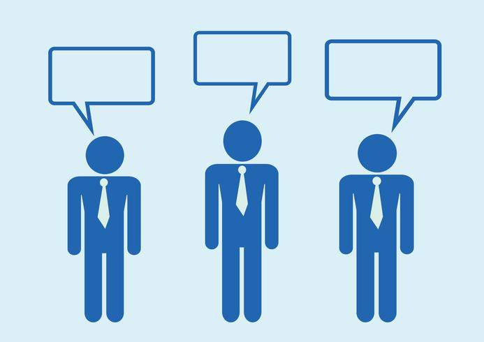 Man People Thinking Talking Conversation Icon Symbol Sign Pictogram Pictogram Free Vector Illustration Symbols