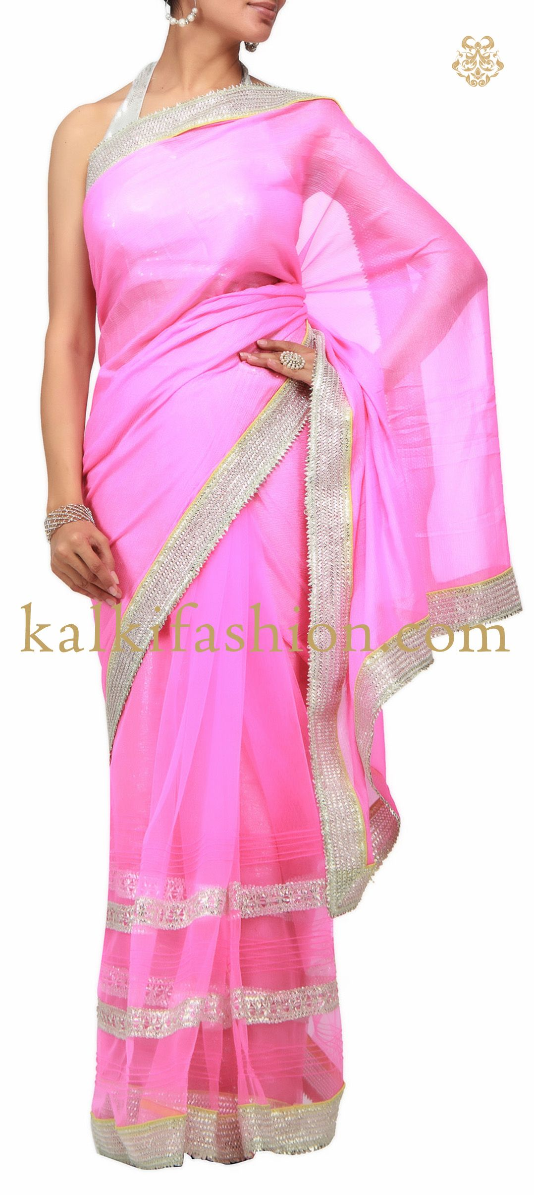 Pin By Kalkifashion Com On Sarees Pinterest Saree Chiffon Saree