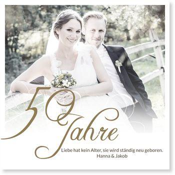 Einladungskarten Goldene Hochzeit Typografie