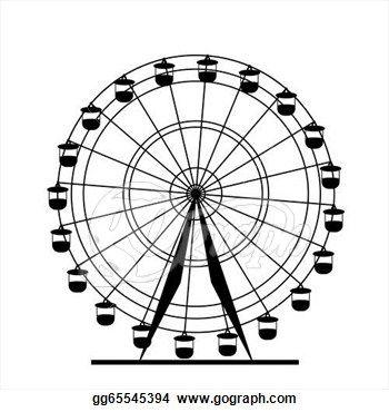 Ferris Wheel Vector Illustration Ferris Wheel Silhouette