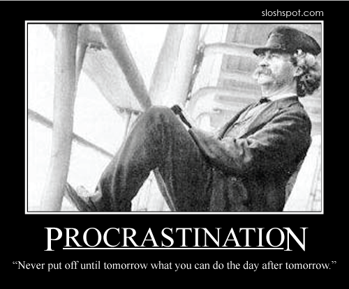 Mark Twain on procrastination