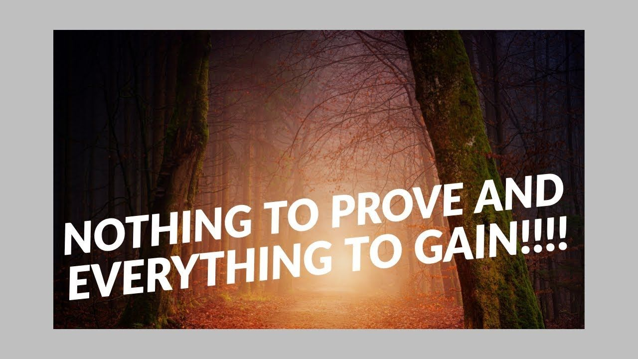 Nothing To Prove And Everything To Gain Prove It Everything Gain