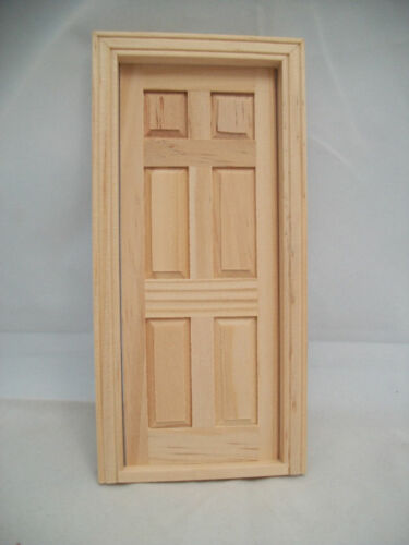 Details About Door 6 Panel Interior Dollhouse Miniature Wooden 6007 Fairy Door 1 12 Scale In 2020 Wooden Doors Interior External Wooden Doors Dollhouse Miniatures Kitchen