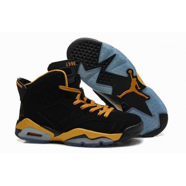 Black · discount black yellow air jordan 6 retro ...