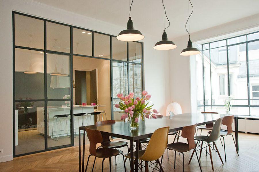 Idee Divisori Cucina Soggiorno : Soggiorno con vetrata terrazzo pin ...