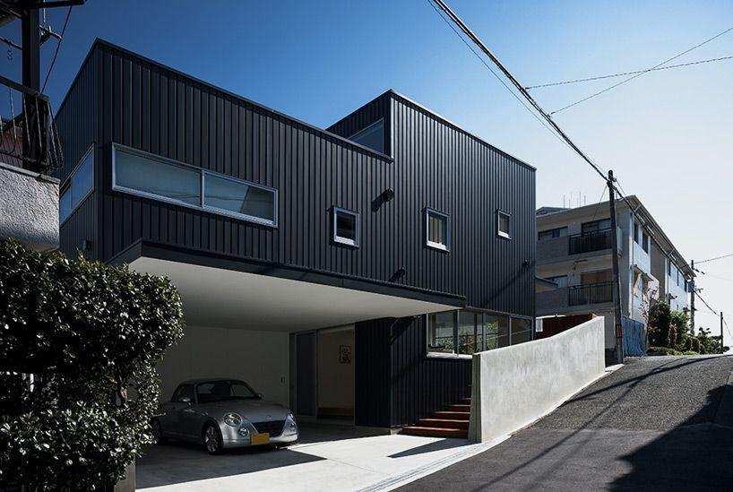 Maison de ville réalisée à partir du0027une structure métallique #design - plan maison structure metallique