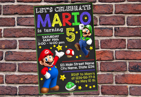 Invitation super mario super mario birthday invitation mario n invitation super mario super mario birthday invitation mario n luigi birthday invitation filmwisefo