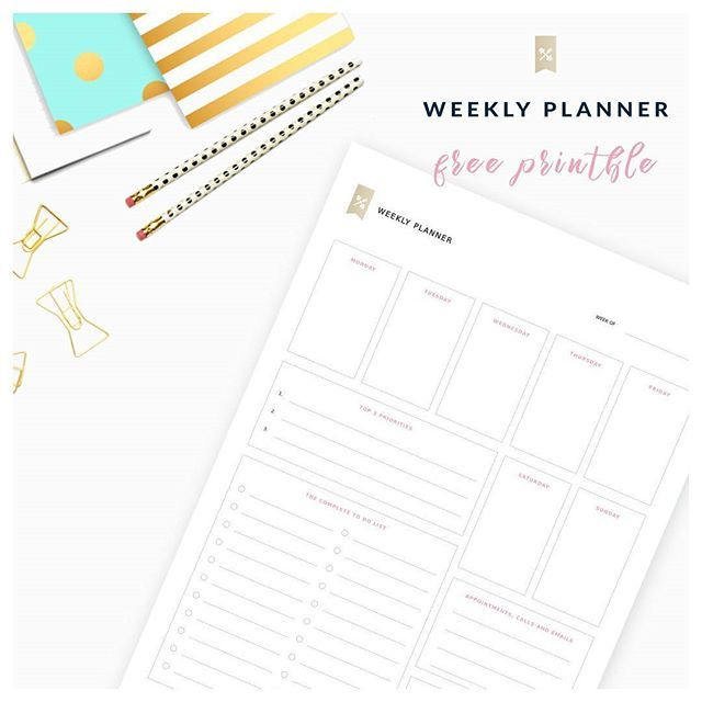Print Our Free Template And Get A Weekly Overview Of Your Life