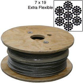 Southern Wire Stainless Steel Cable By The Roll 5 16 7x19 500 Ft By Southern Wire 565 00 Size Typ Stainless Steel Cable Speaker Accessories Size Type