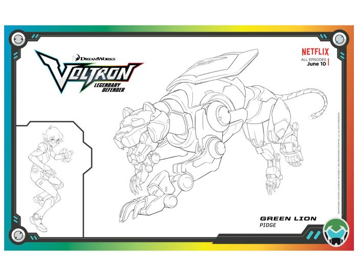Voltron Green Lion Coloring Page Free Printables Pinterest