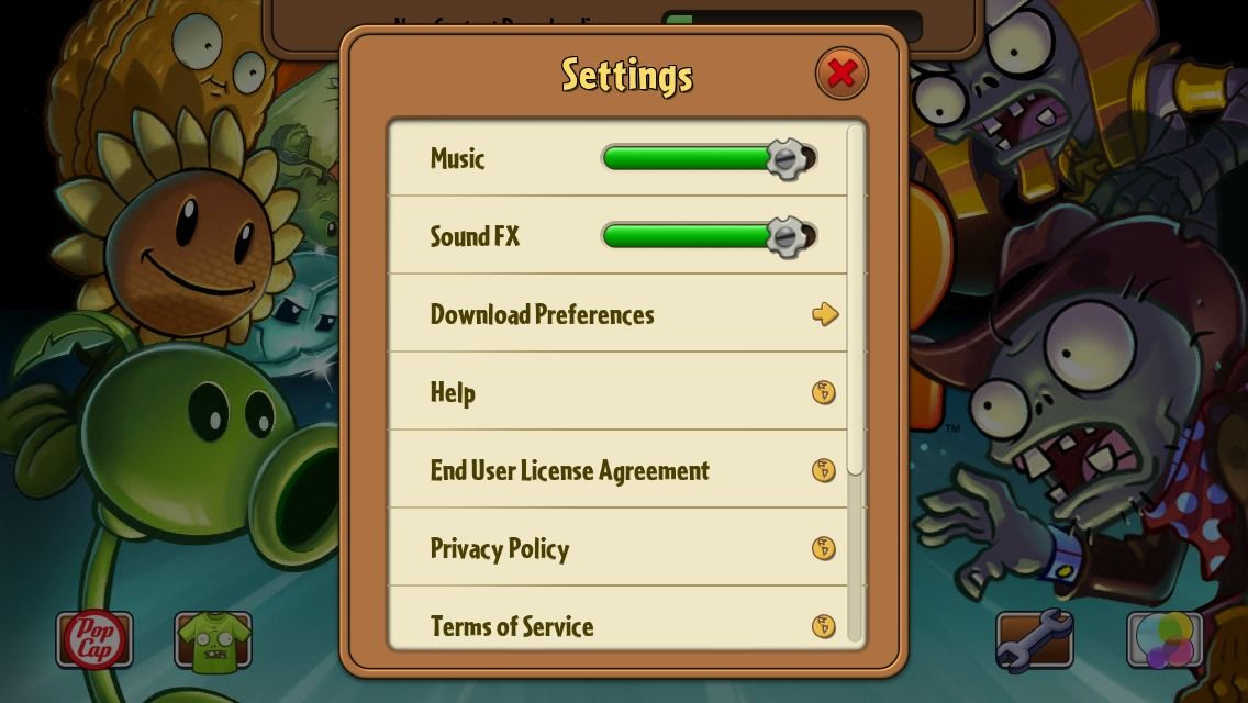 Plants Vs Zombies 2 By Popcap Ea Terms Of Service Privacy