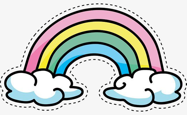 Cartoon Color Rainbow Rainbow Cartoon Rainbow Drawing Rainbow Stickers