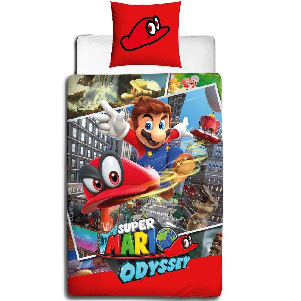 Nintendo Super Mario Odyssey Bettwäsche 2 Tlg 80x80 135x200 Cm