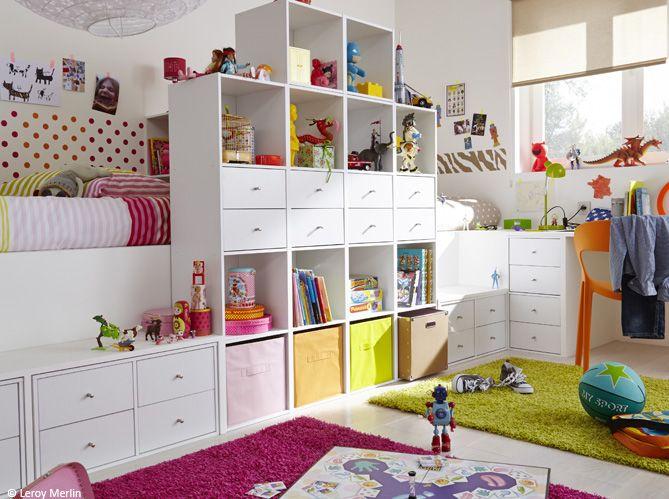 chambre d 39 enfant comment bien am nager une chambre pour deux elle d coration choix. Black Bedroom Furniture Sets. Home Design Ideas