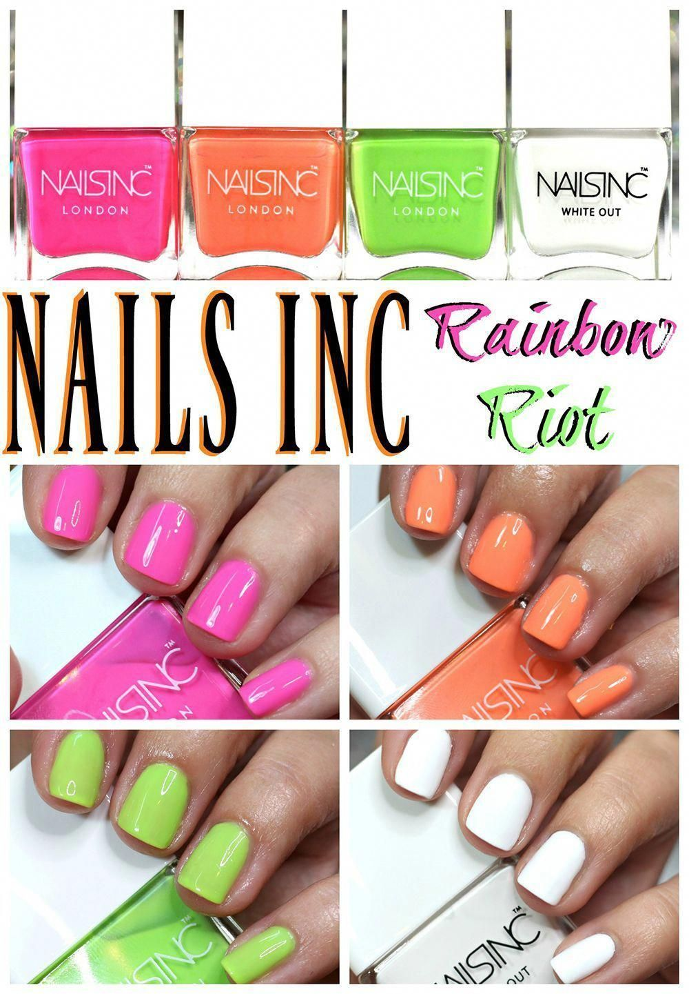Summer Neon Nail Trends // NAILS INC Rainbow Riot Nail Polish-##nails #polish #rainbow #summer #trends – #nails