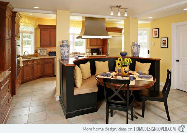 15 stunning kitchen nook designs dwyer kitchen image sawhorse designs the banquette - Kitchen Nook Design