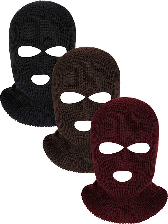 3 Holes Full Face Cover Knitted Balaclava Face