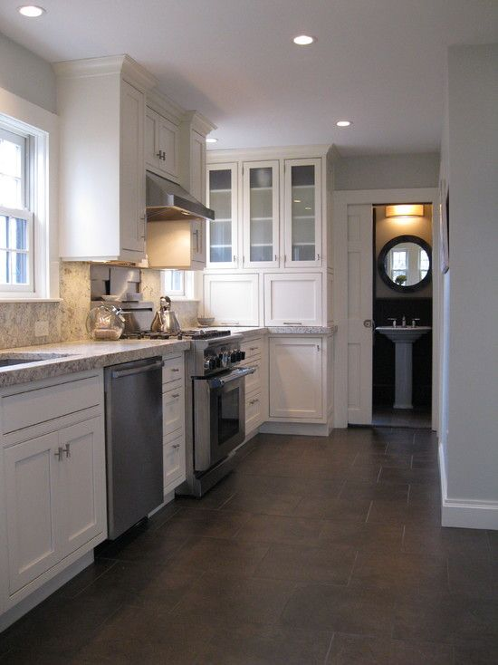 Traditional Kitchen Tile Floor Design, Pictures, Remodel, Decor and
