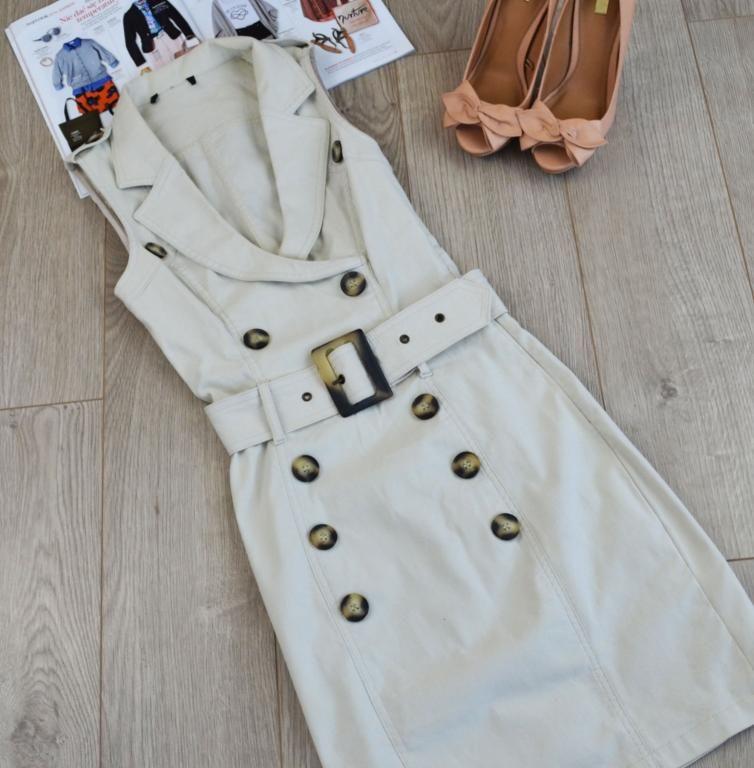 Sukienka Styl Safari Guziki Ax Paris R 38 4340249095 Oficjalne Archiwum Allegro Ax Paris Styl Safari