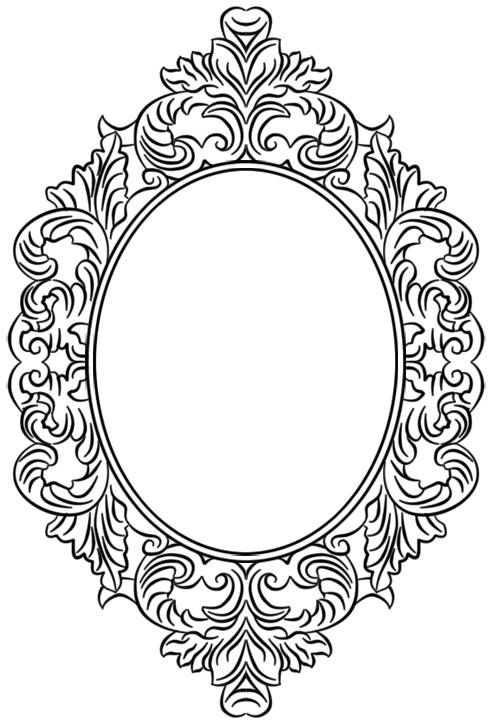 Pin De Gul Yelkenci Em Desen Moldura Oval Moldura Desenho