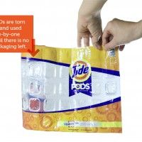 """Article on product packaging. Aaron Mickelson's concept for """"disappearing"""" packaging."""