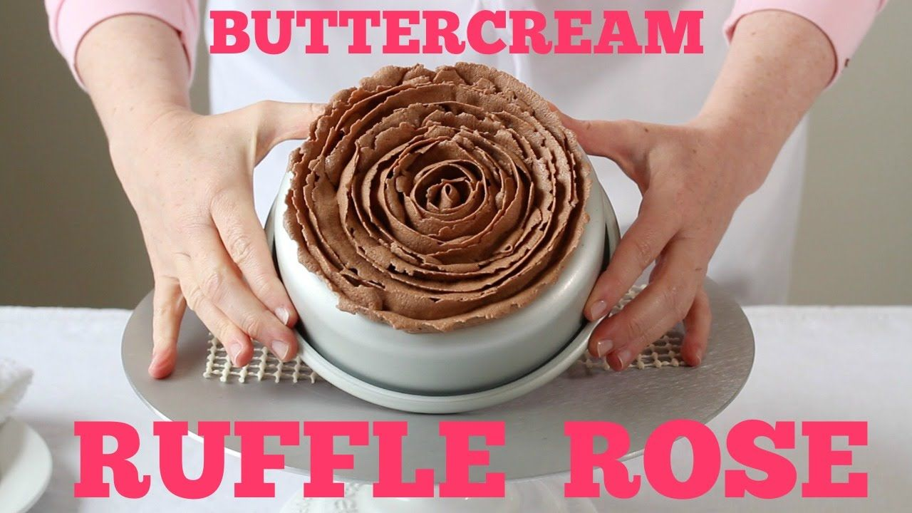 Learn how to pipe a buttercream ruffle rose on top of a cake. A simple · Rose TutorialDecorating IdeasCake ... & Learn how to pipe a buttercream ruffle rose on top of a cake. A ...