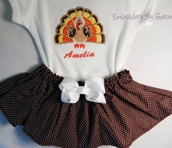 Baby Girls First Thanksgiving Outfit, and Toddler Girls  Thanksgiving outfit, Personalized for free #thanksgivingoutfit