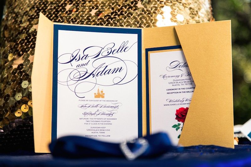 Beauty and the Beast Themed Wedding Central Texas The colors in – Beauty and the Beast Wedding Invitations