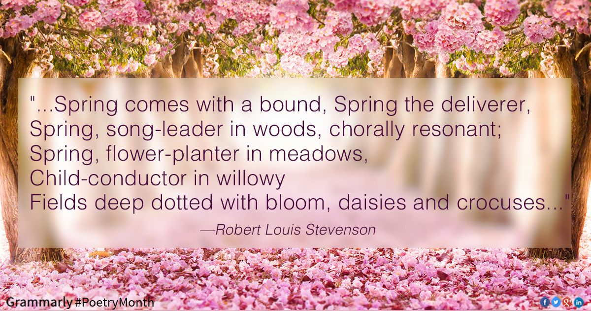 Let your love of poetry bloom 3 poems about spring language for let your love of poetry bloom 3 poems about spring mightylinksfo