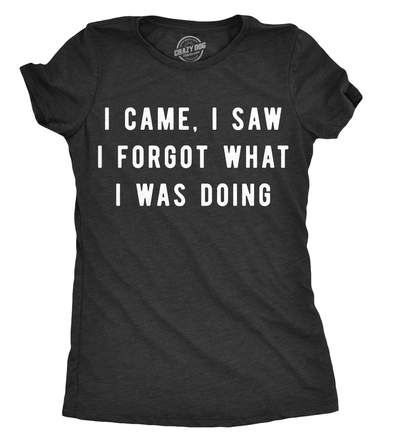 New Funny Shirts I Came, I Saw I Forgot What I Was Doing Women's Tshirt I Came, I Saw I Forgot What I Was Doing Women's Tshirt – CrazyDog T-Shirts 1