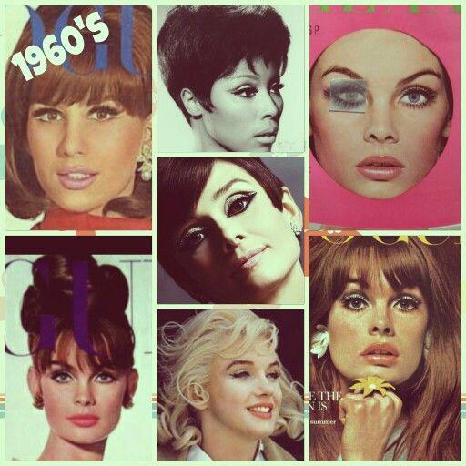 1960 S Makeup Mood Board 1960s Makeup Creative Makeup Mood Board