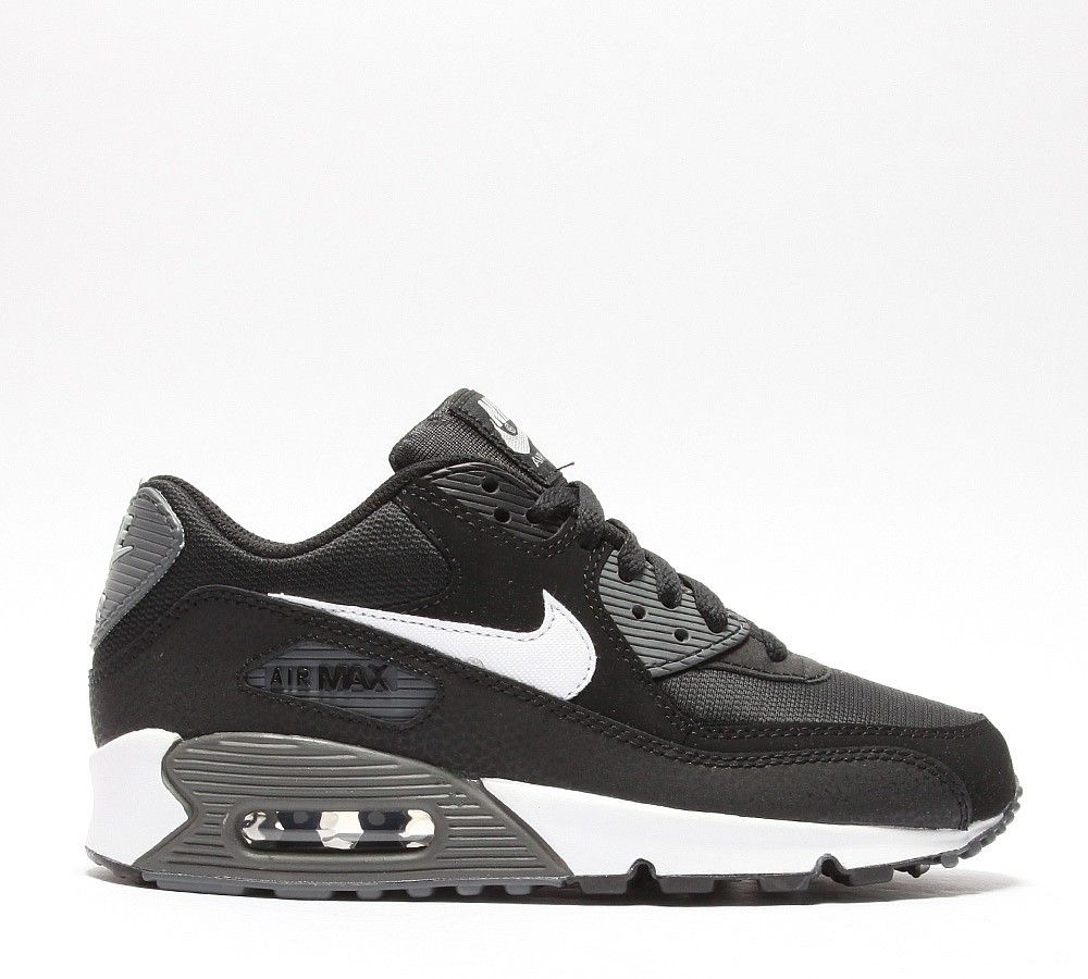 Nike Air Max 90 Womens Trainers in Black/Grey/White cheap price