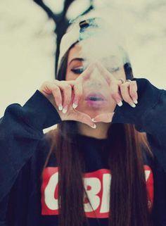 Swag Girl Smoking Weed